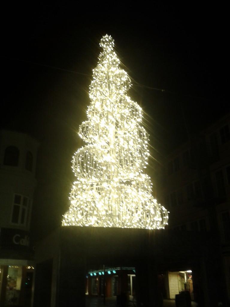 Árvore de Natal em Holstebro. Foto: arquivo pessoal