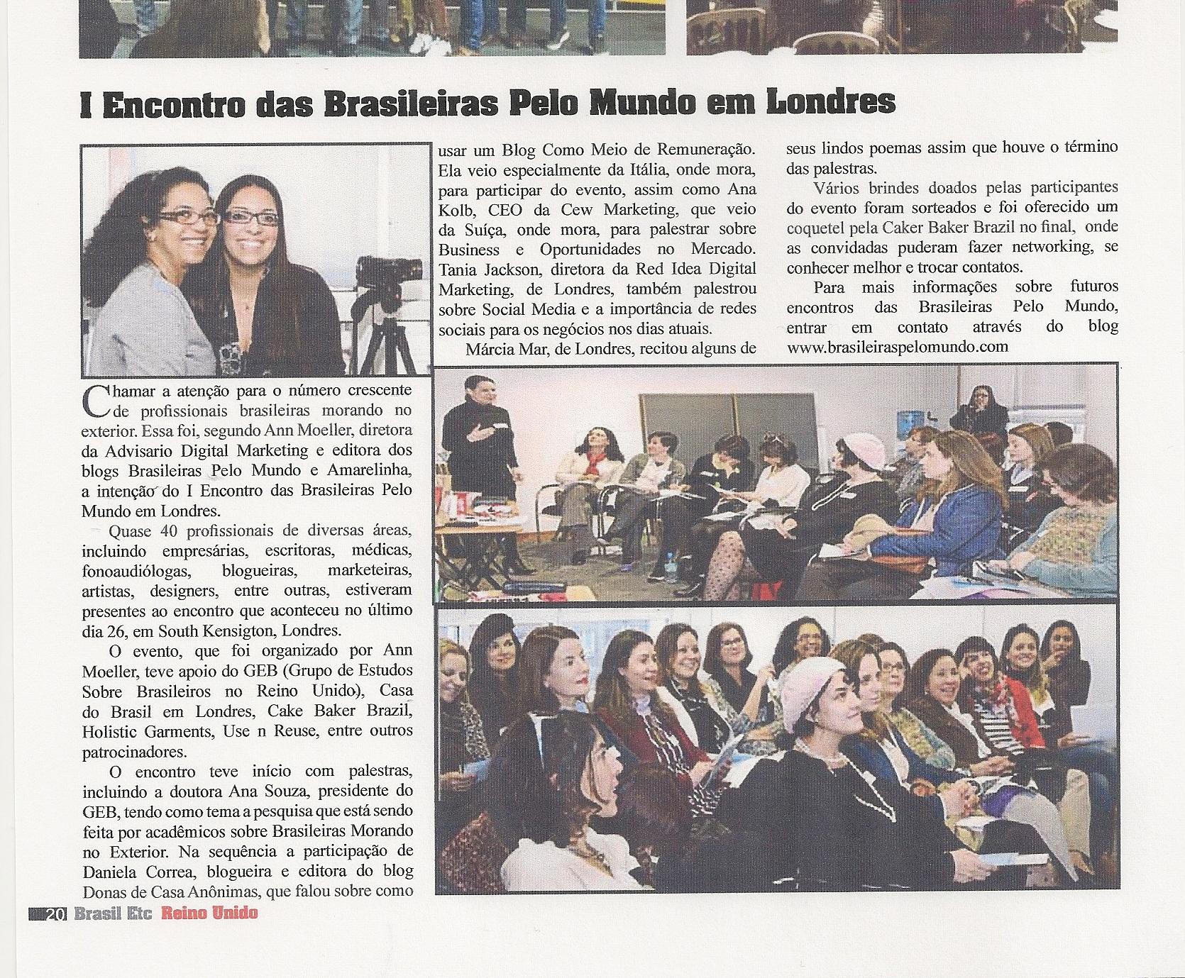 Revista- Brasil etc I encontro brasileiras pelo mundo