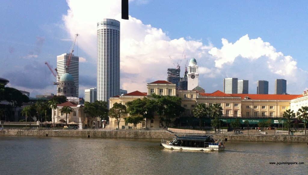 Táxi boat no Singapore River