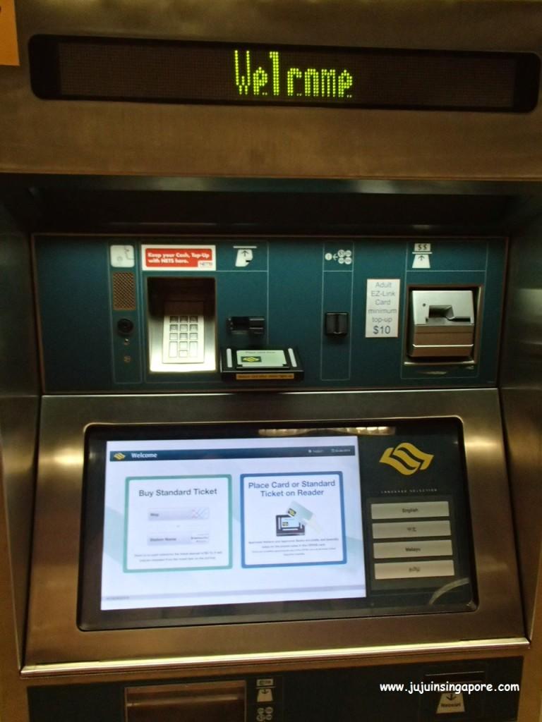Máquina para recarga do cartão Ez-link