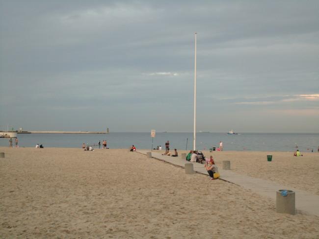 Vista da areia.