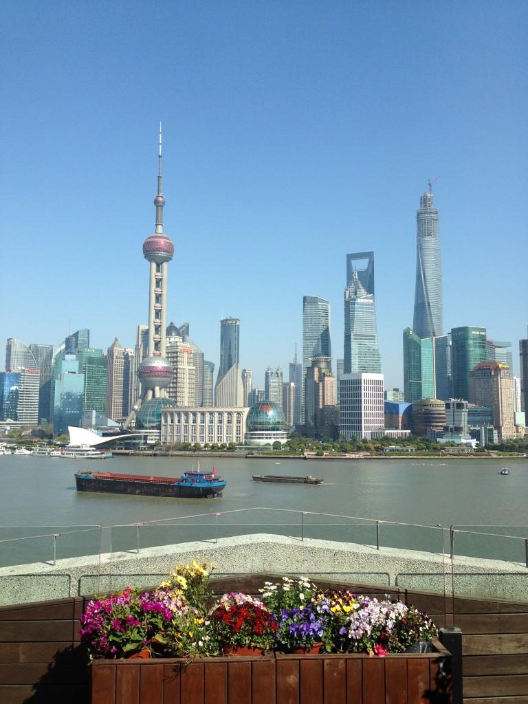 Vista do Bund para Pudong - Shanghai