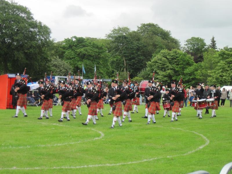 Pipe band em Aberdeen.