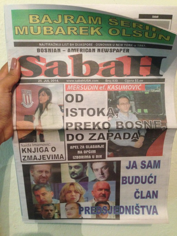 O Sabah: primeiro jornal bósnio criado fora da Bósnia. O jornal possui circulação diária.