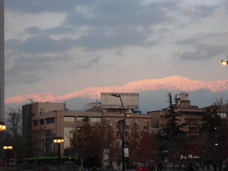 Entardecer em Santiago