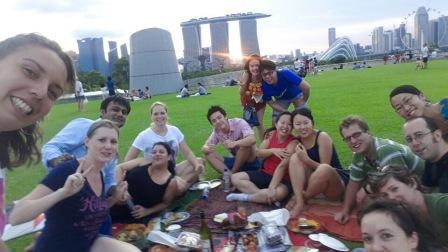 Piquenique com amigos de diversas partes do mundo!!!