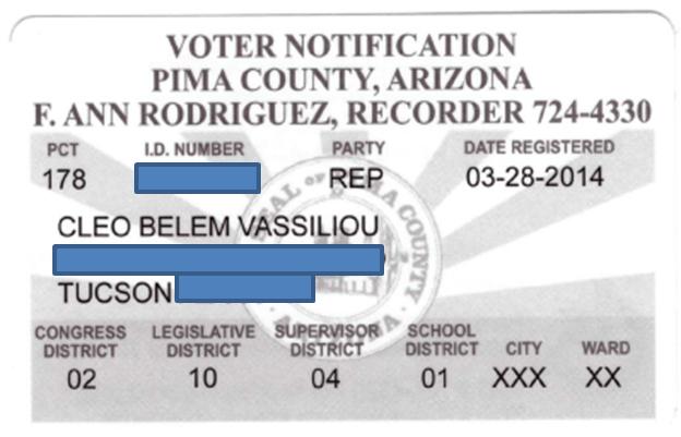 Reg voto americano