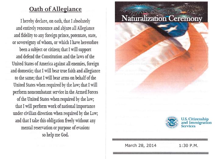 oath of allegiance copy