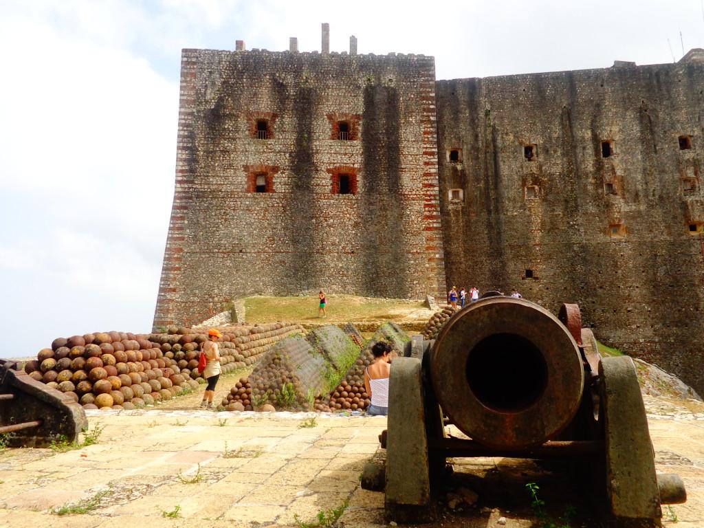 Vista dentro da fortaleza