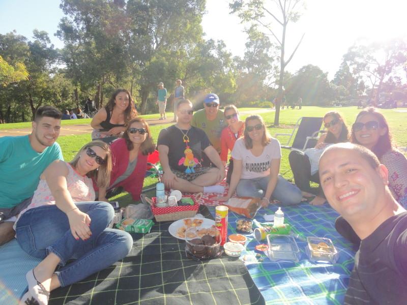 Picnic no Kings Park em Perth