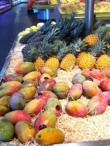 Abacaxi e manga
