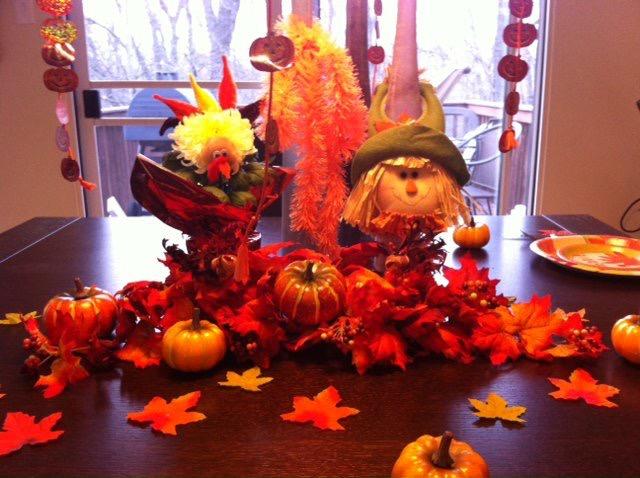 Mesa enfeitada para a chegada da família para comemorar o Thanksgiving. (Crédito da foto: Jordana Mattos)