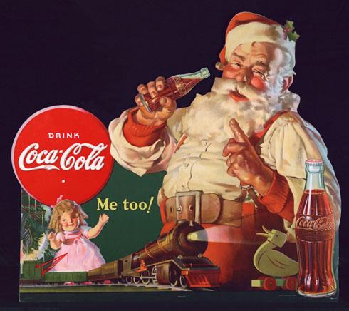 Santa in red