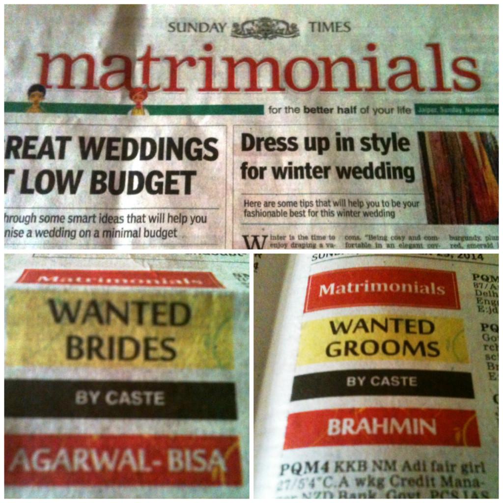 Imagem obtida no jornal de domingo 'Times of India'.