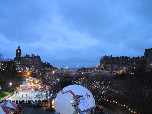 Edimburgo e seu Christmas market