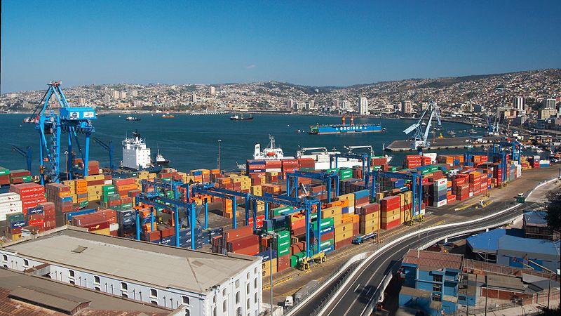 Valparaíso desde mirador artillería. Foto feita por Usuario:Barcex. Cópia autorizada.