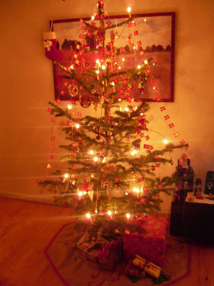 Essa foi a primeira árvore de Natal que montei na minha casa na Dinamarca, em 2013!