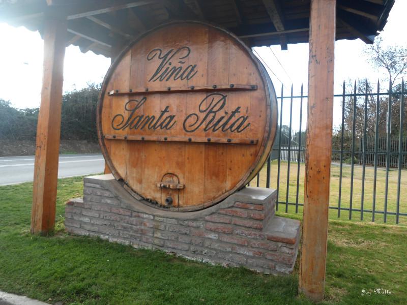 Entrada do vinhedo Santa Rita