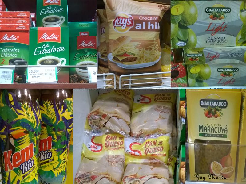 Café, batata palha, polpa de goiaba, refrigerante de guaraná, pao de queijo e polpa de maracujá. Tudo nas gôndolas do supermercado