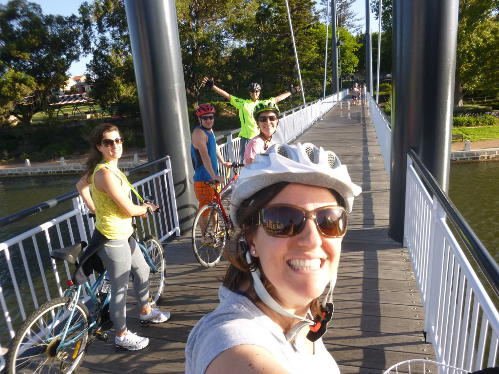 Andando de bike em Perth