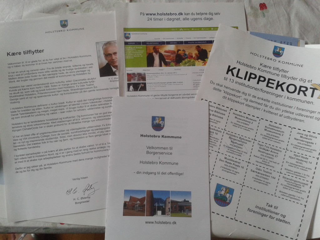 Alguns dos folhetos que compõem o Integrationspakke (Foto: arquivo pessoal)