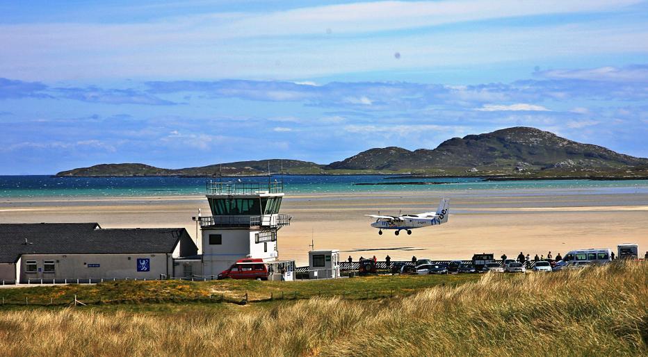 Barra airport, Outer Hebrides (crédito: http://photos.coilleais.com/)