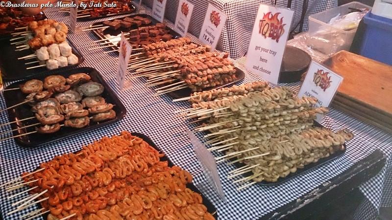 Algumas iguarias da comida de rua filipina e o tal do isaw