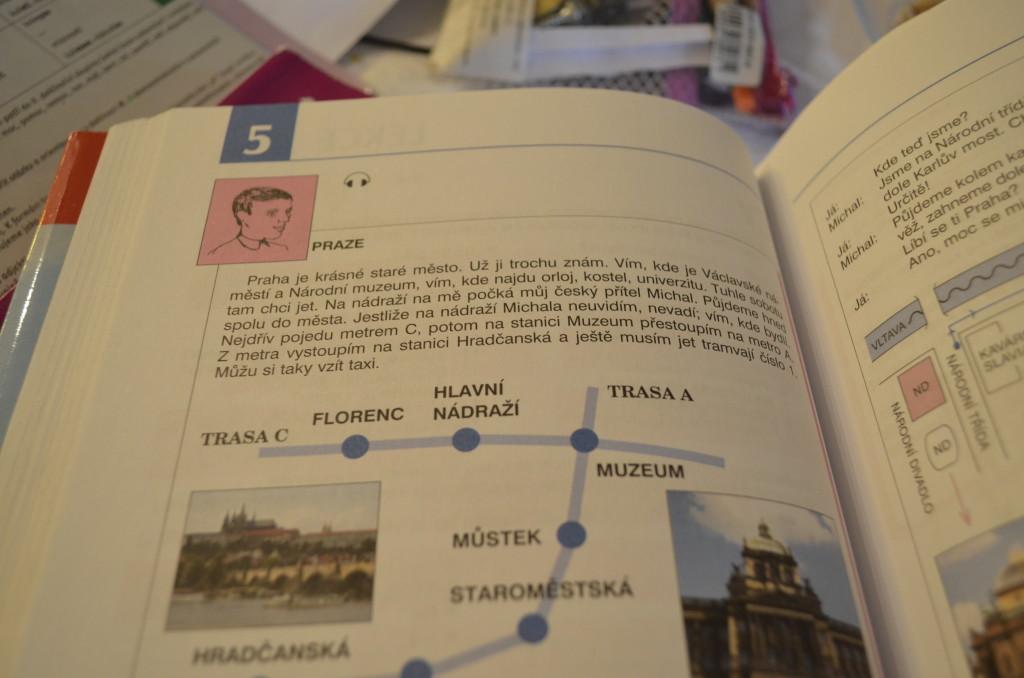 Exemplo de texto em tcheco. Foto: arquivo pessoal