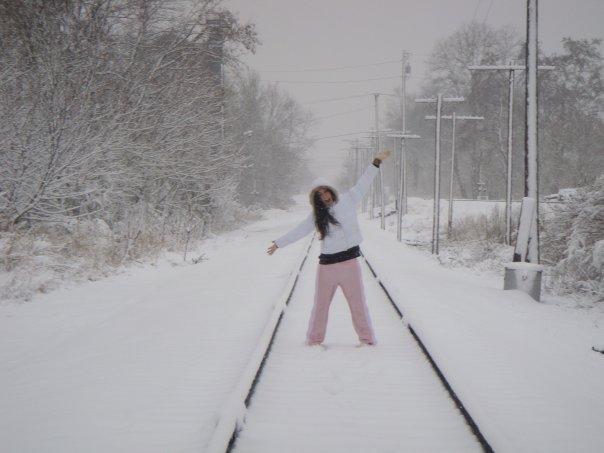 primeiro snowstorm da vida