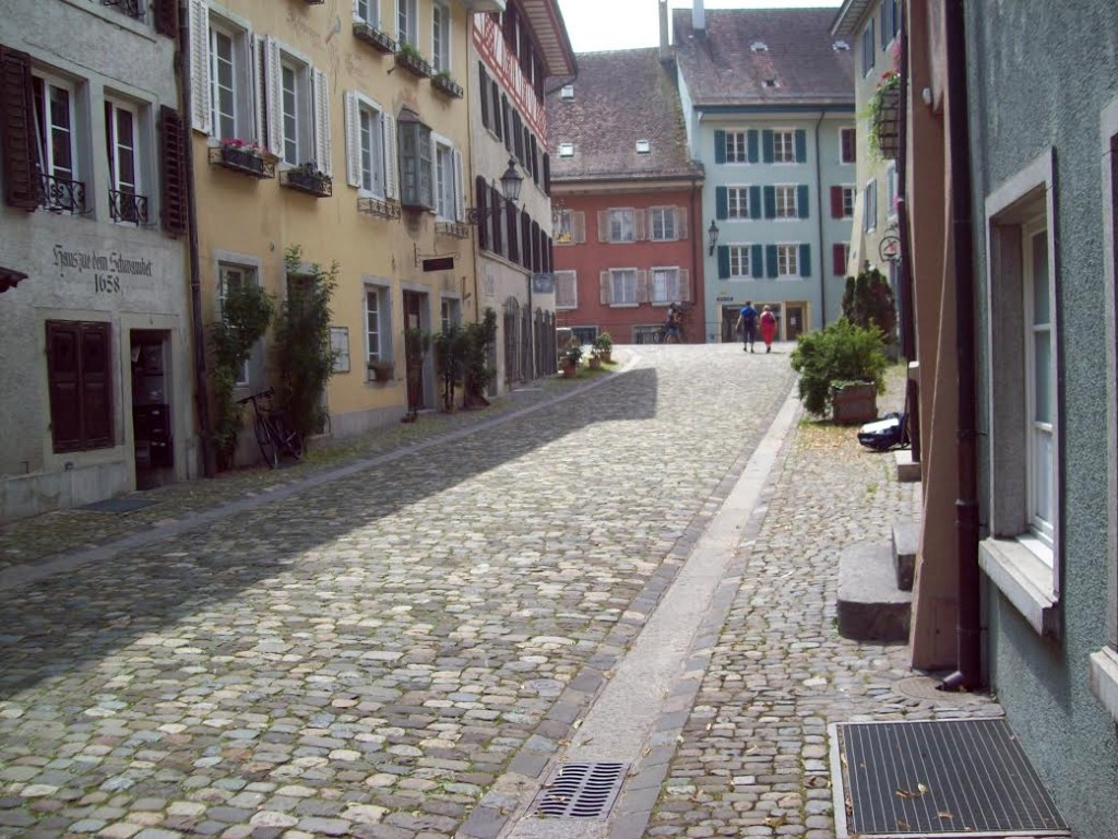 Kronengrasse em Baden ( cidade velha)