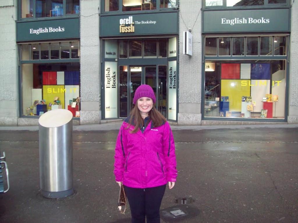 A loja Orell Füssli tem localização central , na Bahnhofstrasse.