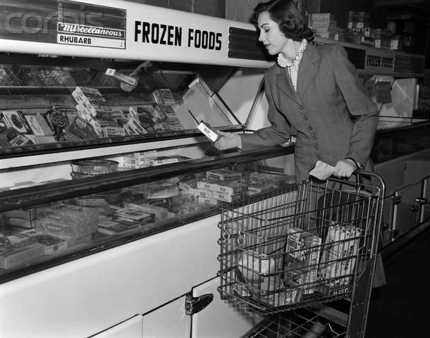 A enorme oferta de comidas industrialmente processadas e congeladas toma conta das prateleiras dos mercados americanos. Foto: spiritunfolding.wordpress.com