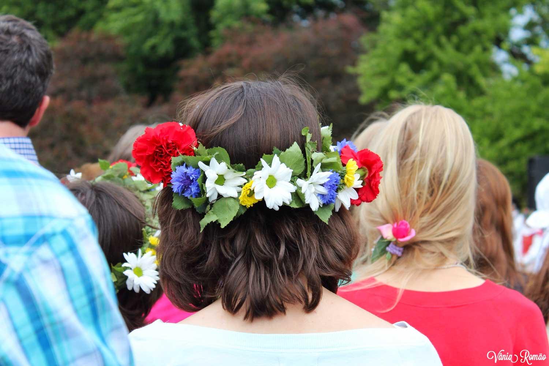 Coroa de flores do Midsommar