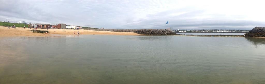 Praia aquecida. Foto: Gabriela Fuentes