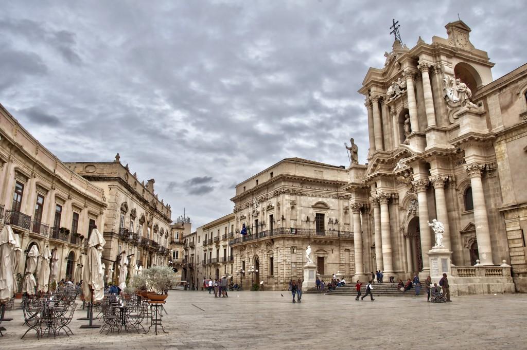 Piazza des Duomo, Syracuse - Sicile, Italie