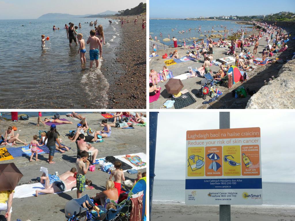 Imagens de Luz Pereira - verão de 2013 em Dun Laoghaire, Killiney. E Inishmore (canto inferior direito) em Agosto de 2015. Fonte: Arquivo pessoal