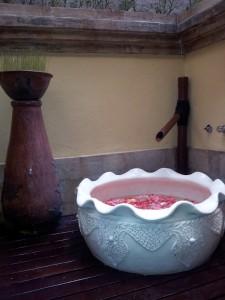 Ofurô do Spa Aston Hotel Bali.