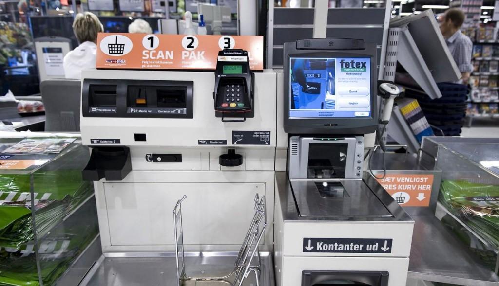 Terminal de autoatendimento no supermercado Føtex. Foto: www.b.dk