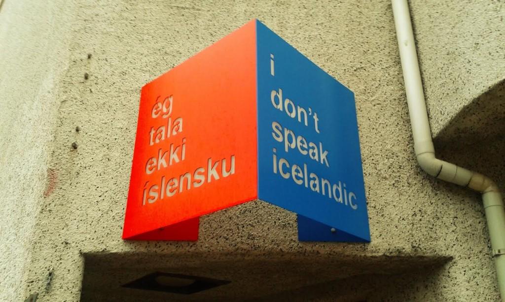 Há uma marca que virou loja de souvenir chamada: Eu não falo islandês