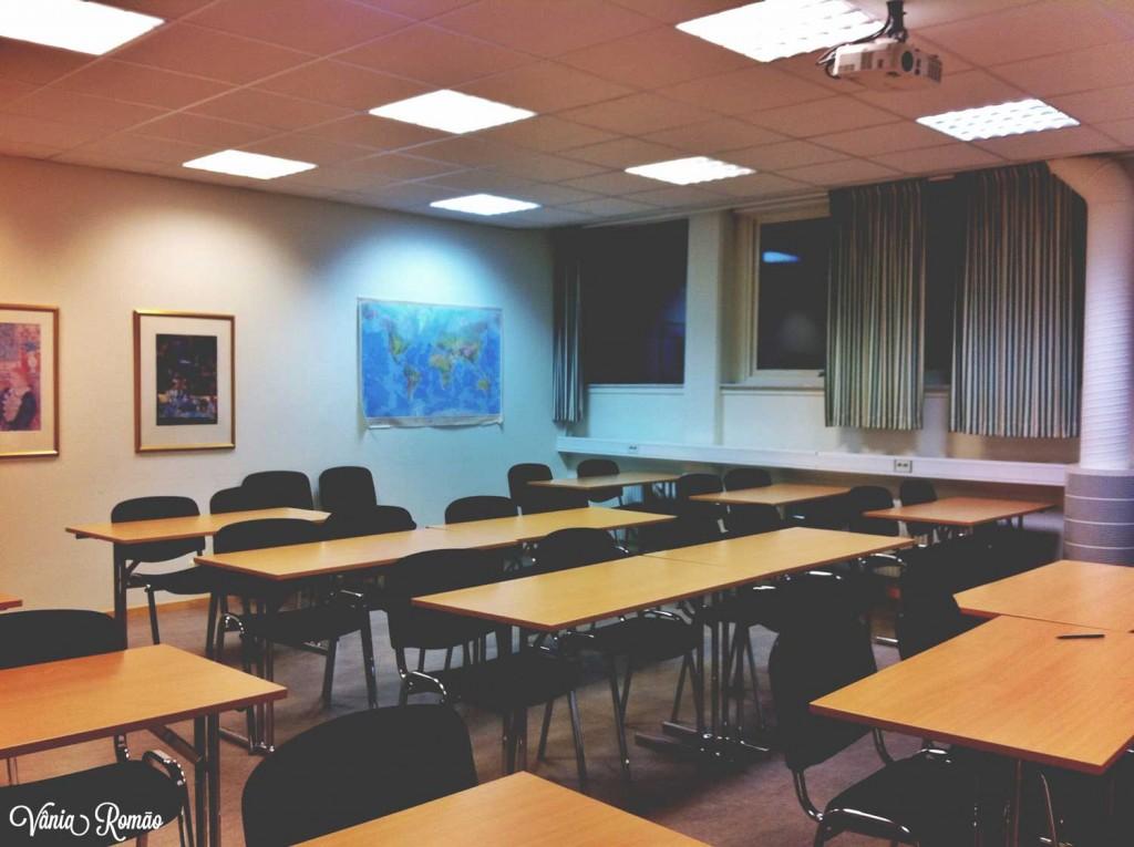 Sala de aula em uma das escolas de SFI na cidade de Gotemburgo