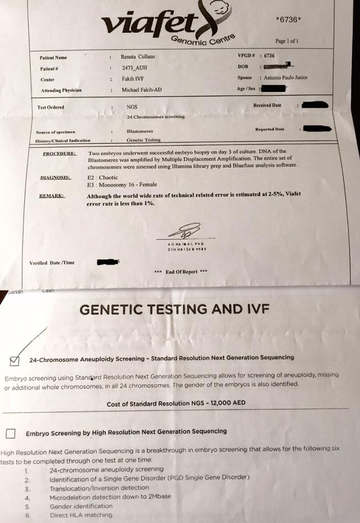 Resultado do exame PGD