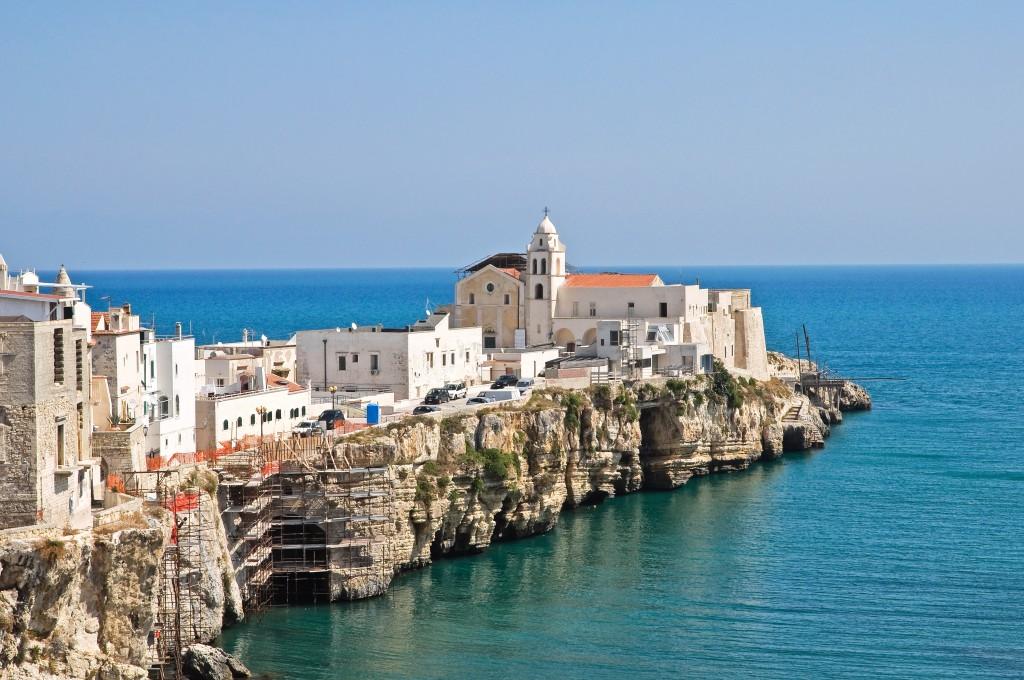 Panoramic view of Vieste. Puglia.