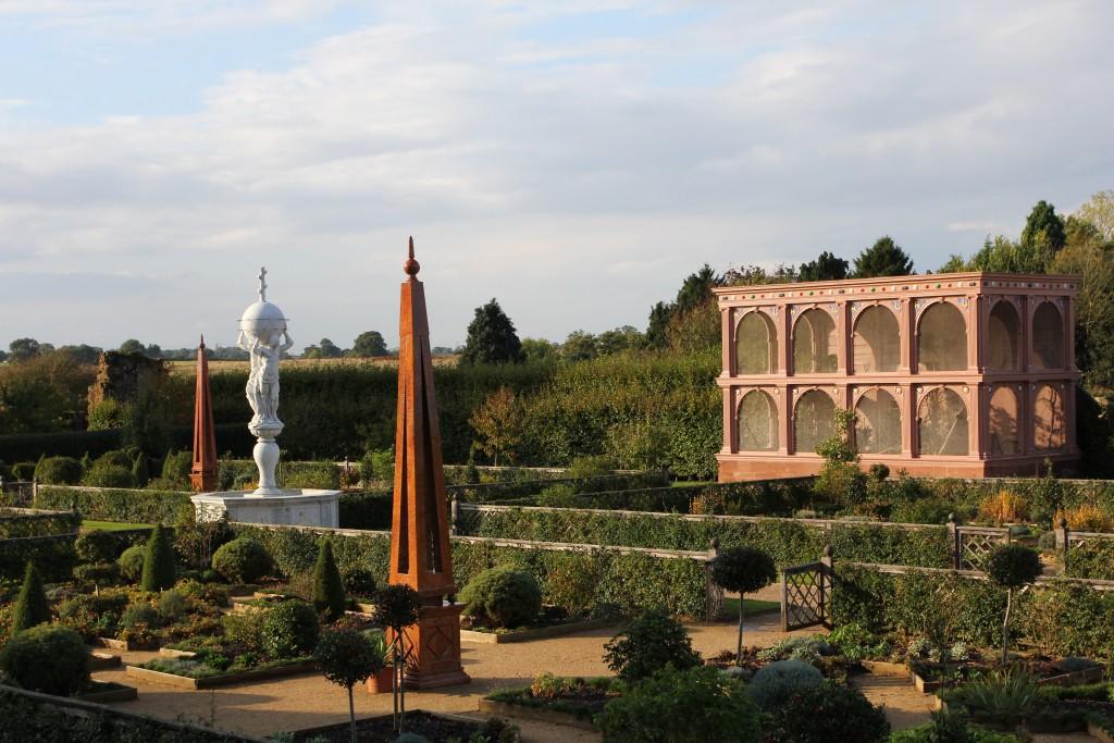 Jardins do castelo de Kenilworth, uma homenagem a Rainha Ekizabeth I. Foto do Arquivo pessoal