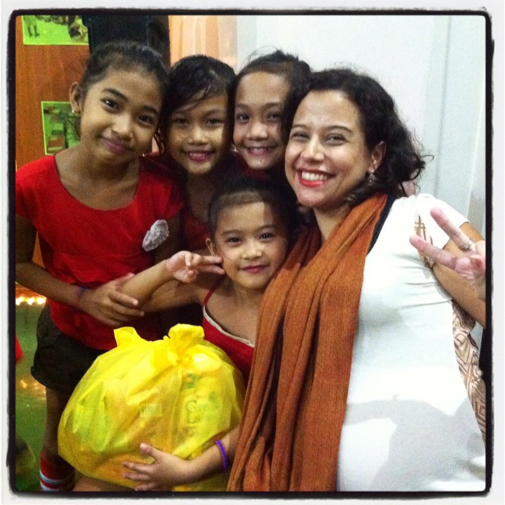 Eu e as crianças: gratidão pelo bem que elas me fizeram!