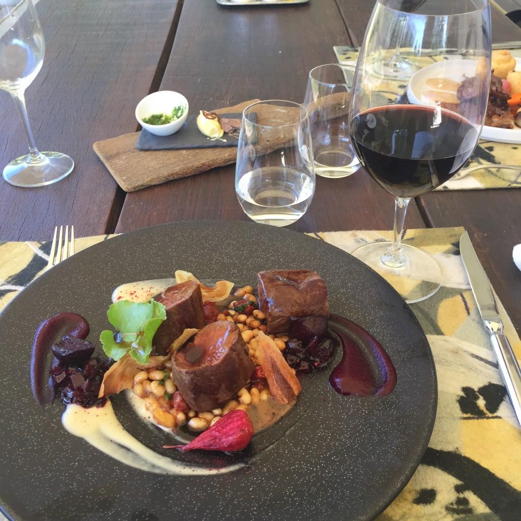 Almoço no restaurante Pierneef - La Motte. (Foto: M. Braga)