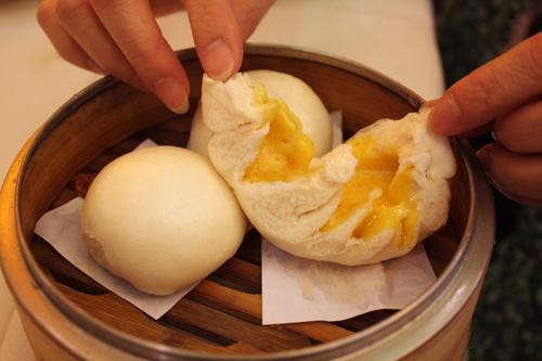Egg steamed bun