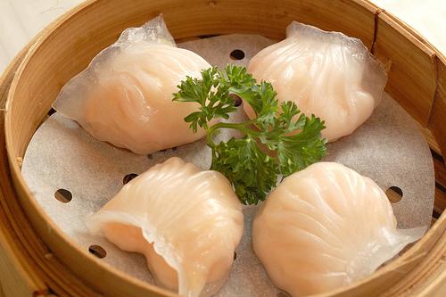 Dumplings de camarão