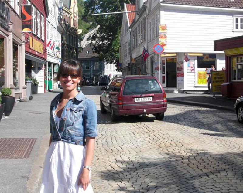 """""""Turistando"""" em Bergen. Foto: Arquivo pessoal."""