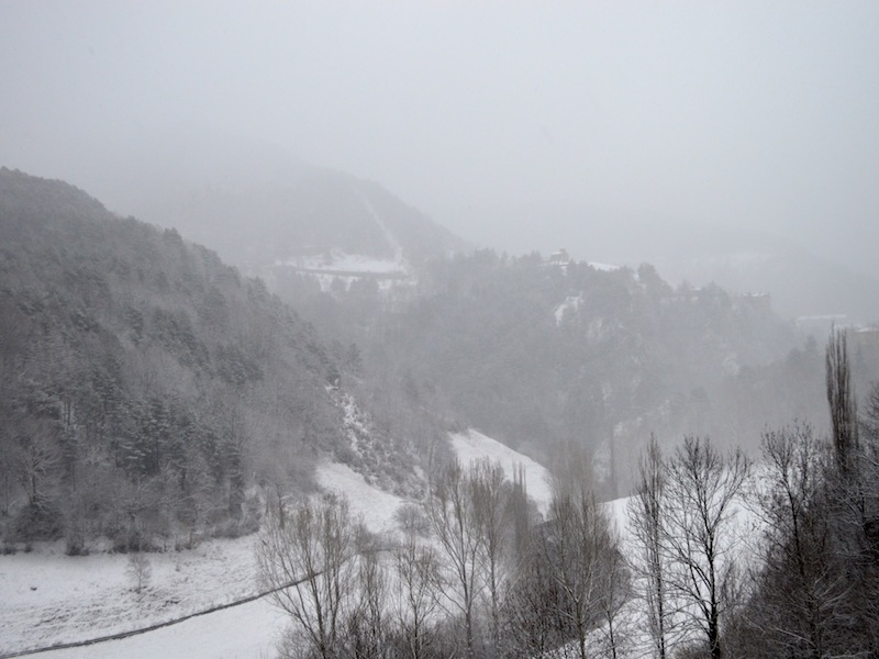 Estrada nos Pirineus, onde passei um dos maiores sustos da minha vida
