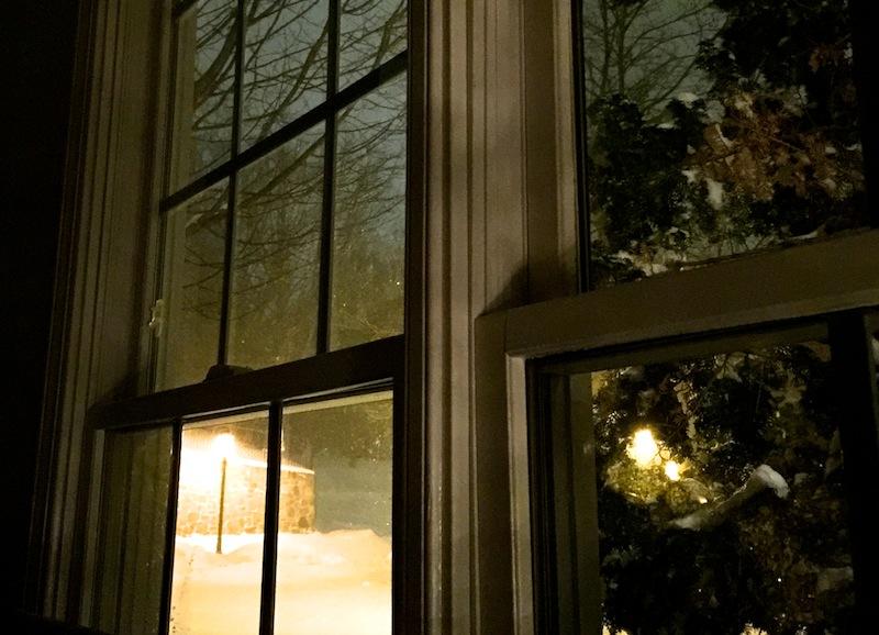 Vista da minha janela no ápice da tempestade de neve